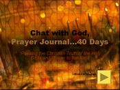 40 Days Prayer Journal Powerpoint Presentation
